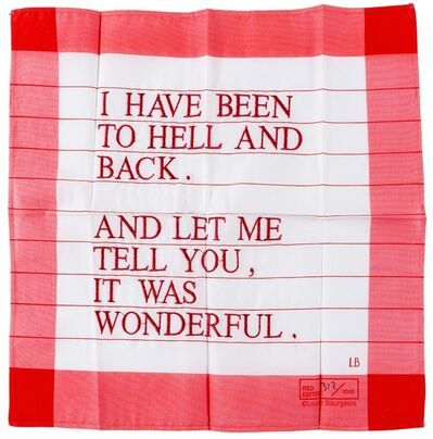 Louise Bourgeois, 'I Have Been to Hell and Back', 1996