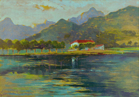 Giovanni Marchini, 'Brivio Lake ', 1920