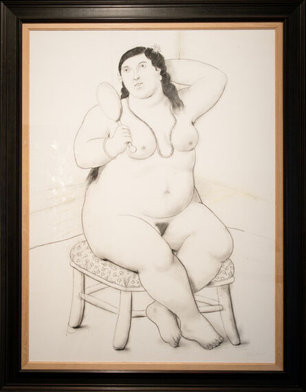 Fernando Botero, 'Mujer con espejo', 2011