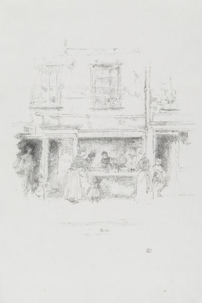 James Abbott McNeill Whistler, 'MAUNDER'S FISH SHOP, CHELSEA', 1890