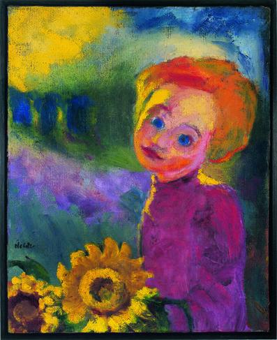 Emil Nolde, 'Kleine Sonnenblumen', 1946