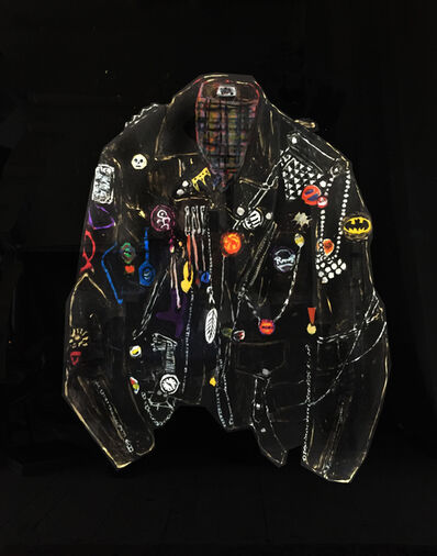 Rose Eken, 'Jacket with Chains, Patches and Wrist Watch', 2018