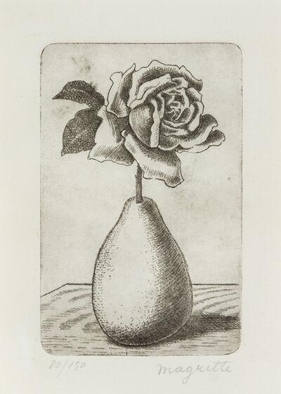 René Magritte, 'Poire et Rose'