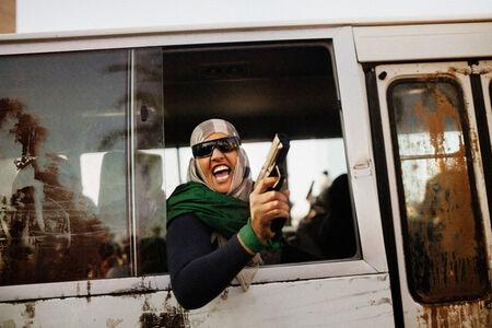 Moises Saman, 'Qaddafi supporter, Tripoli, Libya', 2011