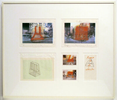 Cris Gianakos, 'Working Drawing for Eclipse, West Broadway + Chambers Street, NYC, 1982', 1982