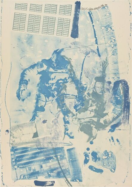 Robert Rauschenberg, 'White Walk (Stoned Moon)', 1970