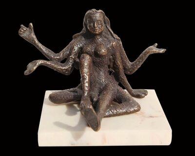 "Seema Kohli, 'Female, Acrobatic Style, Bronze Sculpture, Brown by Indian Artist ""In Stock""', 2018"