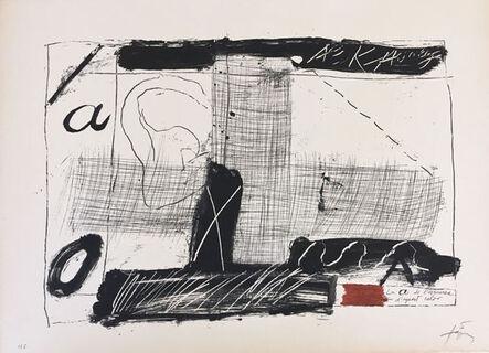 Antoni Tàpies, 'LLambrec 2', 1975