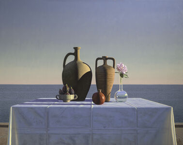 David Ligare, 'Still Life with Figs, Pomegranate, and Rose', 2018