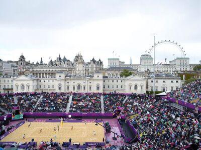 Simon Roberts, 'Women's Beach Volleyball, Horseguards Parade, London, 29 July 2012', 2015
