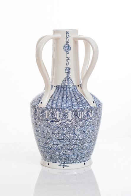 Rachid Koraïchi, 'From the series Lachrymatoires Bleues - Blue Lachrymatory Vases (v)', 2020