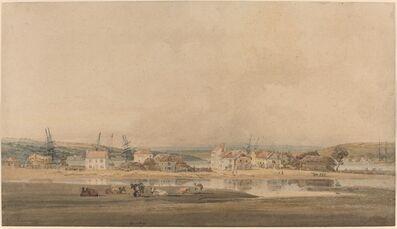 Thomas Girtin, 'Village along a River Estuary in Devon', 1797/1798