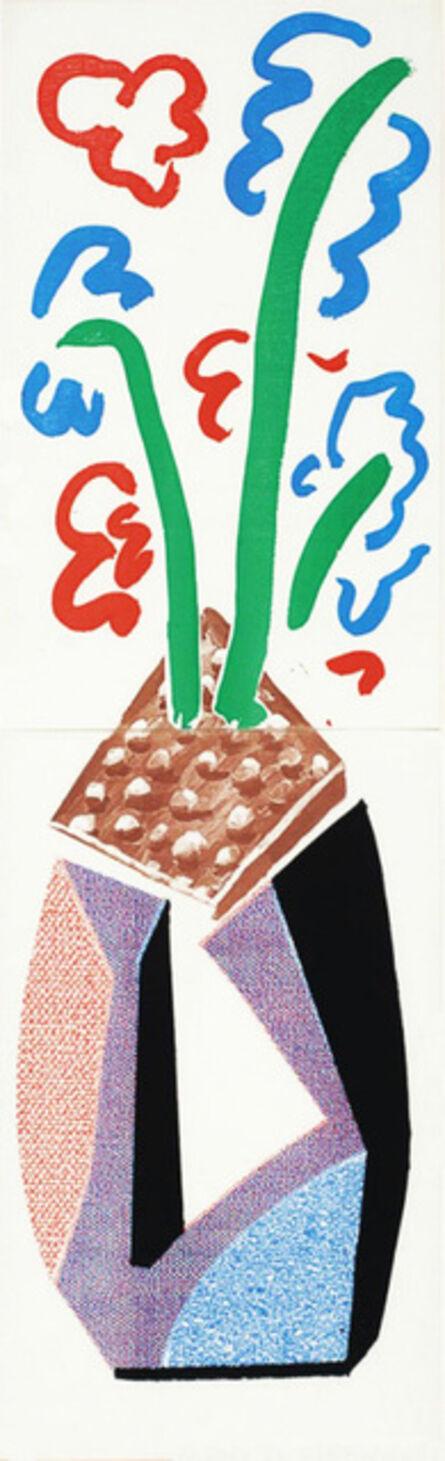 David Hockney, 'Red, Blue & Green Flowers, July 1986 ', 1986