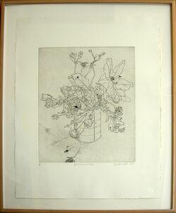 Gordon Cook, 'Geraniums and Roses', 1985