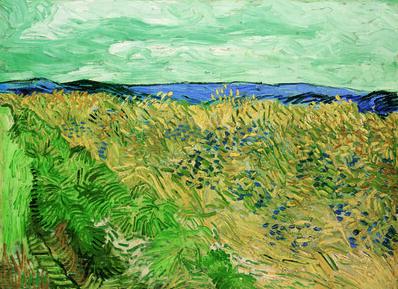 Vincent van Gogh, 'Champ de blé aux bleuets (Wheatfield with Cornflowers)', 1890