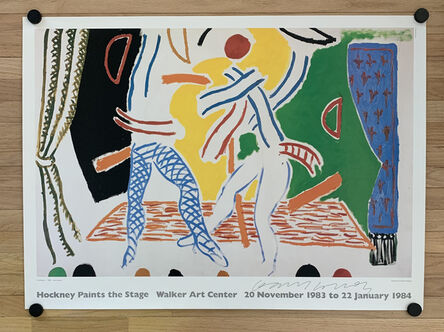David Hockney, 'SIGNED Hockney Paints the Stage Lithographic Poster', 1984
