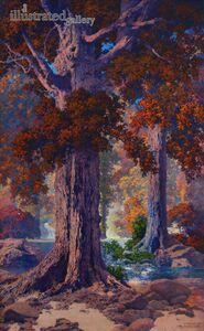 Maxfield Parrish, 'Autumn Woods', 1927