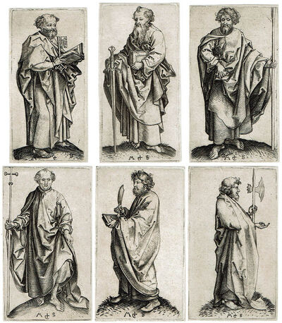 Martin Schongauer, 'Six Apostles (from the series of The Twelve Apostels)', ca. 1480