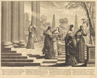 Abraham Bosse, 'The Foolish Virgins Approaching the Temple'