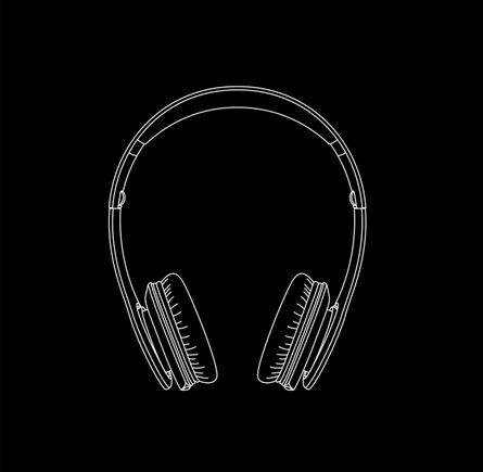 Michael Craig-Martin, 'Headphones from Quotidian', 2017