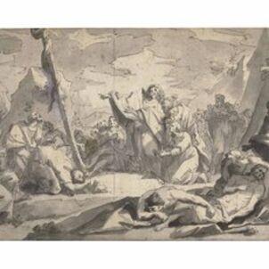 Joseph Cellony le Jeune, 'Moses and the Brazen Serpent'