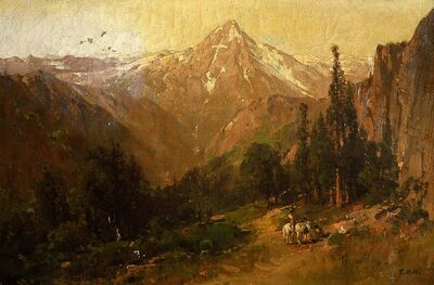 Thomas Hill, 'Mt. of the Holy Cross, Colorado', 1884