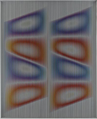 Alberto Biasi, 'Colori Cullati Dal Vento Aquilone', 2000