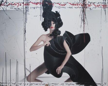 Efren Isaza, 'Teresa in Black Origami 1', 2010