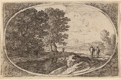 Herman van Swanevelt, 'Three Men Carrying Staffs'