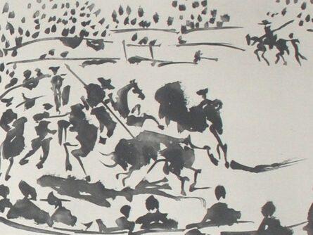 Pablo Picasso, 'El Picador Obligando al Toro con su Pica (The Horseman Forcing the Bull with a Spear)', 1959