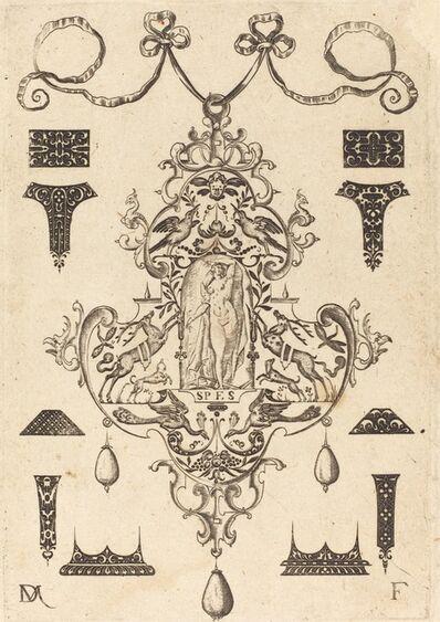 Daniel Mignot, 'Large Pendant, Hope Standing at Centre', 1593