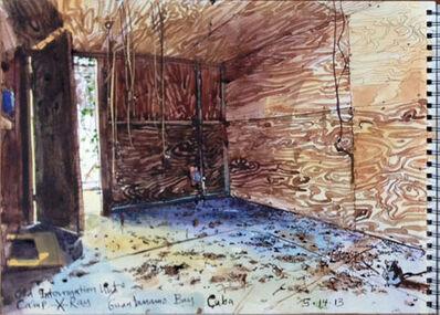 Steve Mumford, '5/14/13, Old interrogation hut, Camp X-Ray, Guantanamo Bay, Cuba', 2013