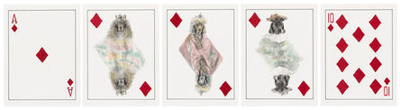 William Wegman, 'Royal Flush: Diamonds', 1998