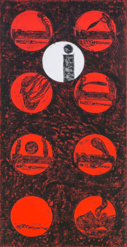 Matt Mullican, 'Untitled (cosmology model death)', 1987