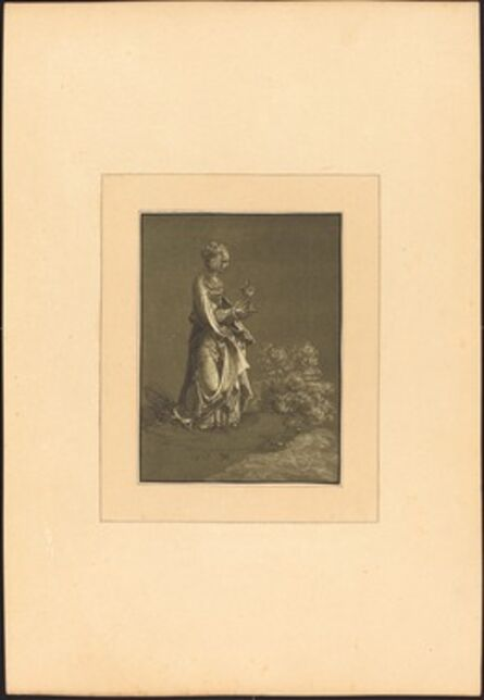 Johann Gottlieb Prestel after Albrecht Altdorfer, 'Saint Barbara', published 1782