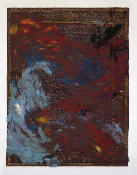 Dana Barnes, ''RETOLD: Mahal Blue Field' carpet.', 2017