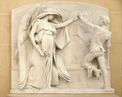 Daniel Chester French, 'The Angel of Death and the Sculptor from the Milmore Memorial', 1921–1926