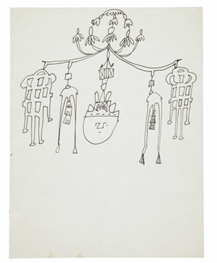 Andy Warhol, 'Chime with Spirit Head', 1954