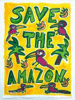 Katherine Bernhardt, 'Save The Amazon (Yellow)', 2019