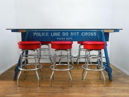 Carlo Sampietro, 'Police Barricade Blue', 2009