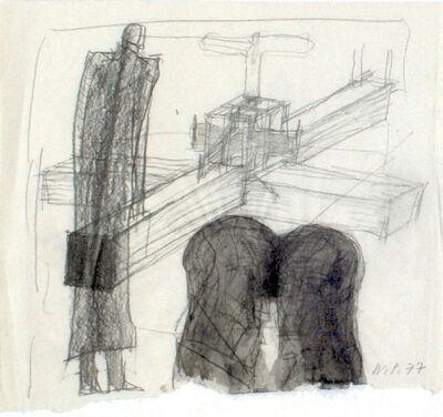 Walter Pichler, 'Großes Kreuz und Doppelkopf', 1977