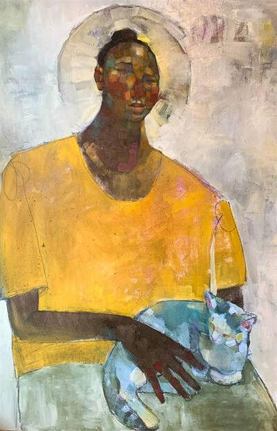 Olivia Mae Pendergast, 'Woman holding Cat ', 2020