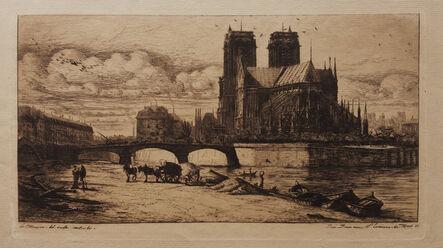 Charles Meryon, 'L'Abside de Notre-Dame de Paris [The Apse of Notre-Dame de Paris]', 1854