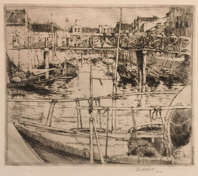 Ernest David Roth, 'The Wooden Bridge, Venice ', 1906