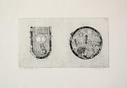 Tatsuo Kawaguchi, 'Erased Time', 1963