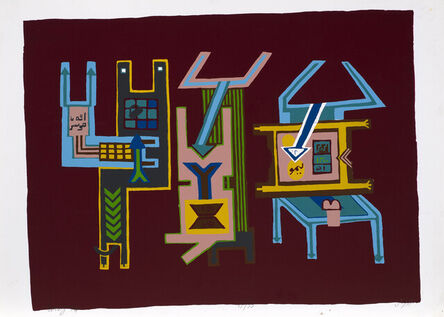 Parviz Tanavoli, 'Three Lovers', 1974