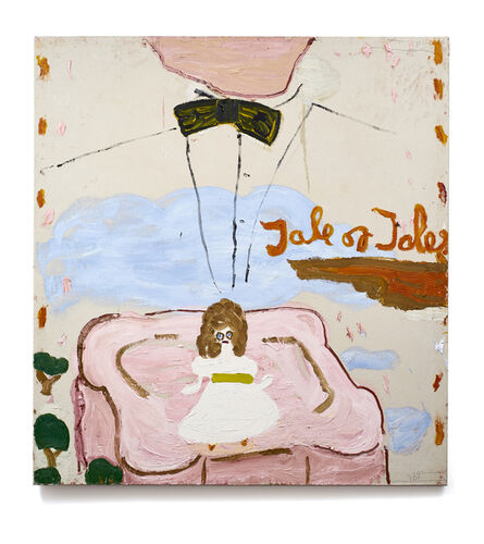 Rose Wylie, 'Tale of Tales, Bow Tie (Film Notes)', 2017