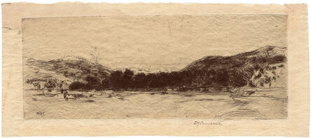 Sir David Young Cameron, 'Sketch on the Tay', 1908