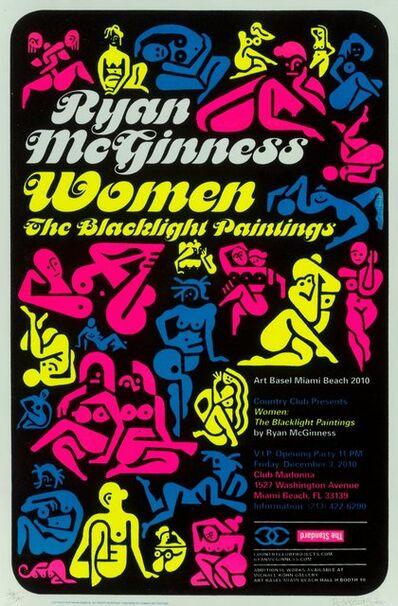 Ryan McGinness, 'Women: The Blacklight Paintings, exhibition poster', 2011