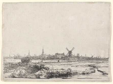 Rembrandt van Rijn, 'View of Amsterdam from the Northwest', ca. 1640